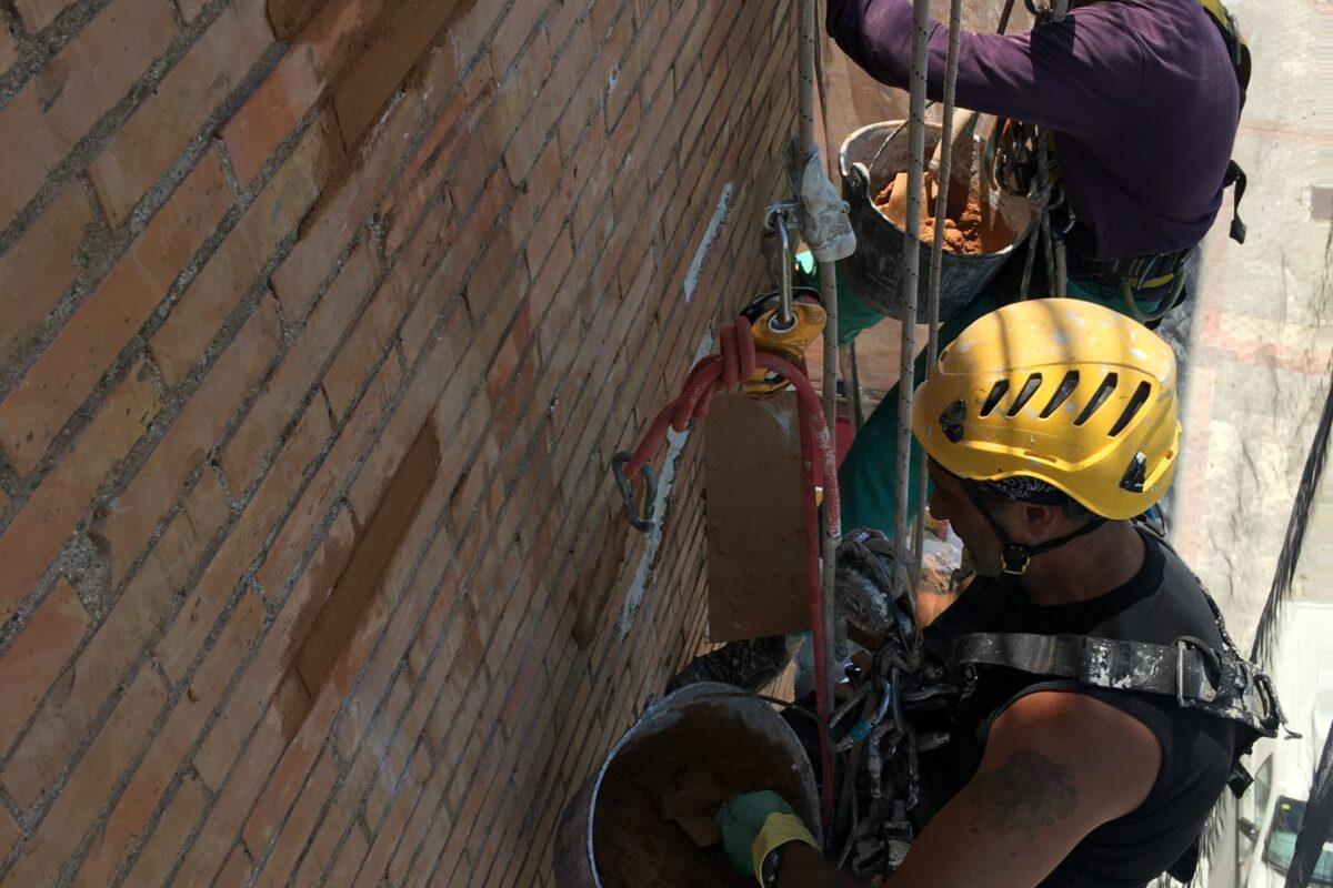 Reparación de fachadas sin andamios