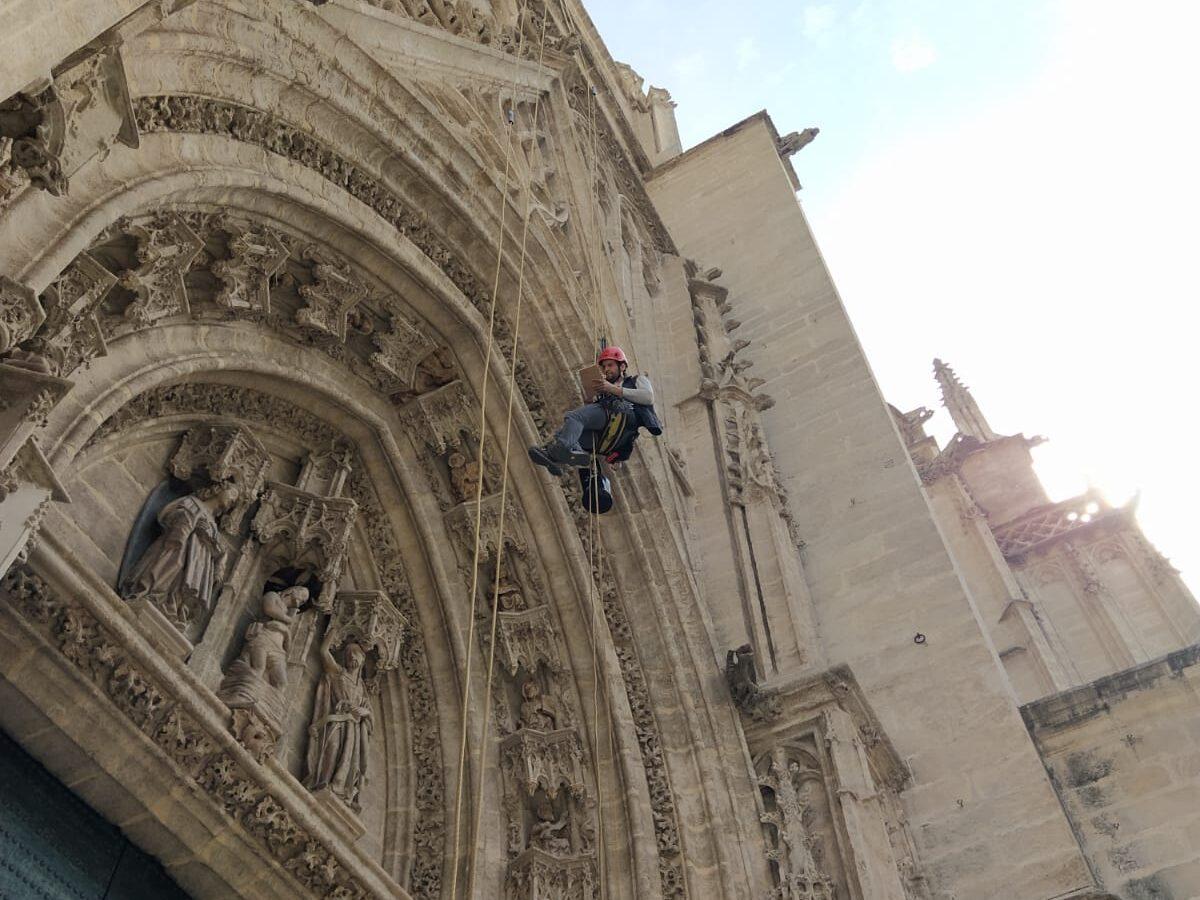 Inpección Puerta del Bautismo. Catedral de Sevilla