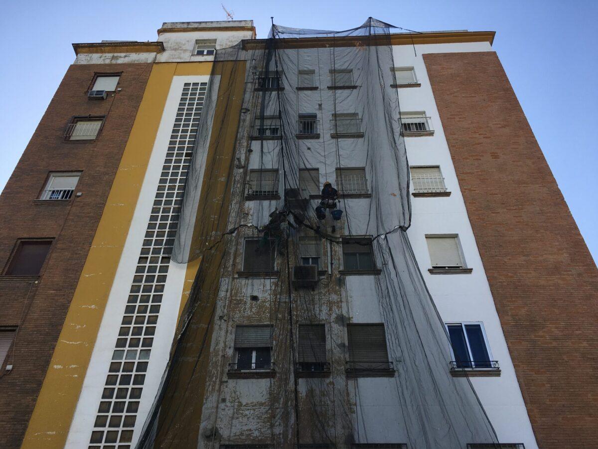 Rehabilitación de fachada CCPP San Francisco Javier. Sevilla