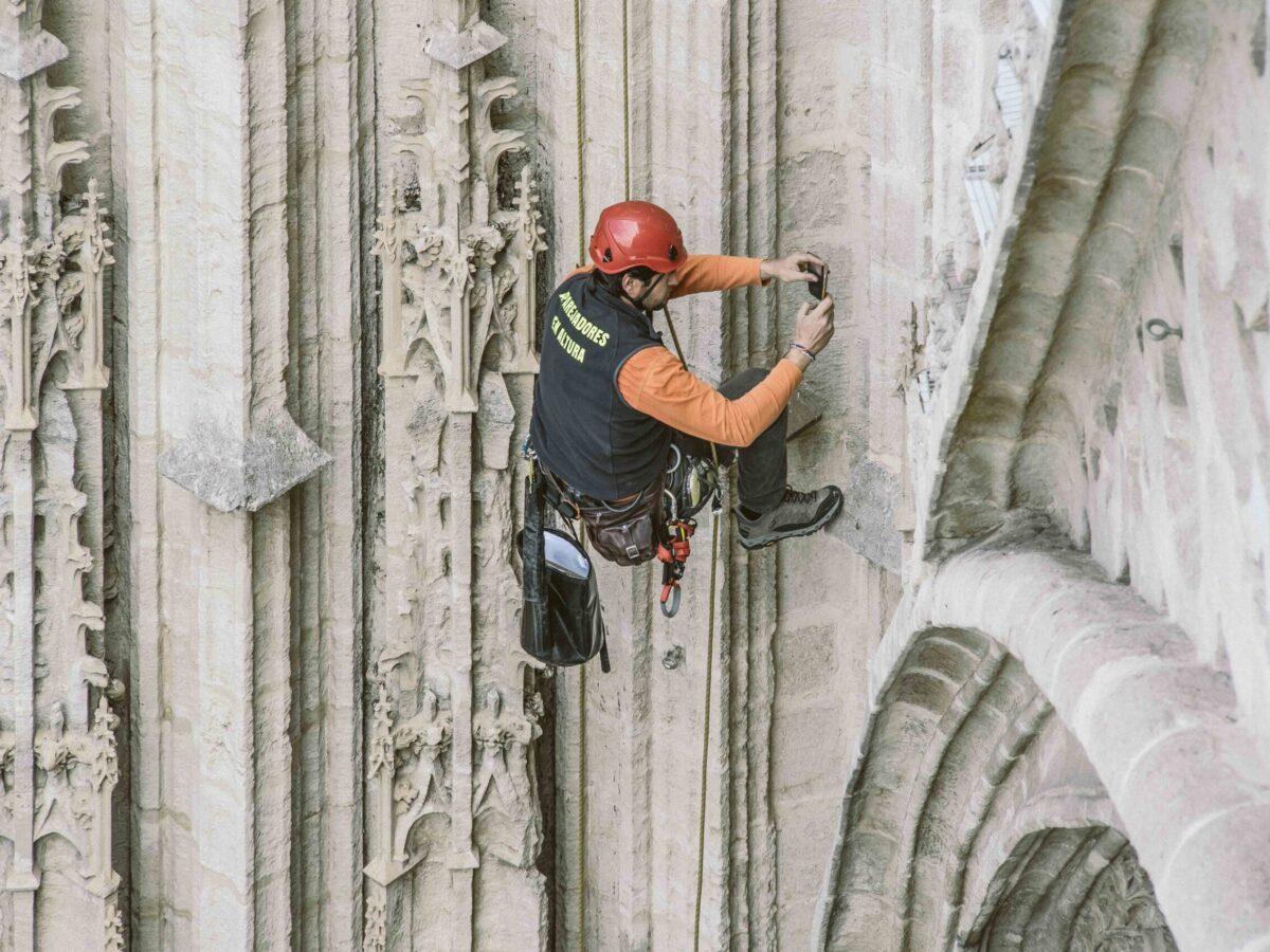 Inspección Puerta Bautismo. Catedral de Sevilla