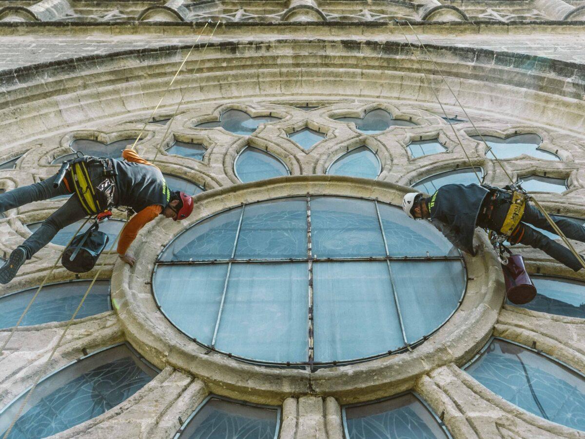Inspección Rosetón Puerta Asunción. Catedral de Sevilla