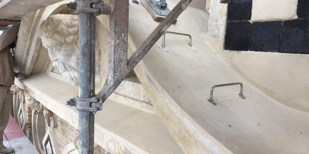 Asesor Técnico, instalación de pates en acero inoxidable. Giralda. Catedral de Sevilla.